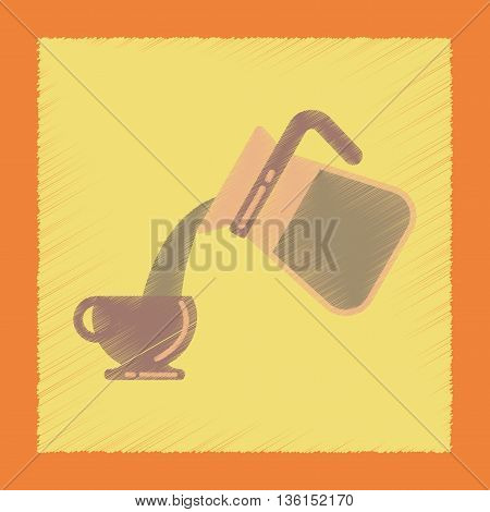 flat shading style icon cup Coffee Maker