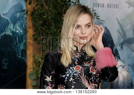 Margot Robbie at the Los Angeles premiere of 'The Legend Of Tarzan' held at the Dolby Theatre in Hollywood, USA on June 27, 2016.