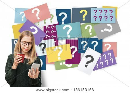 Question Mark Asking Curious Confuse Riddle Puzzle Concept