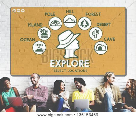 Explore Adventure Travel Journey Experience Concept