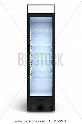 Drink Display Fridge 3D Render On White