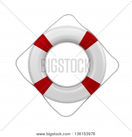 Lifebuoy 3D Render On A White Background Without A Shadow