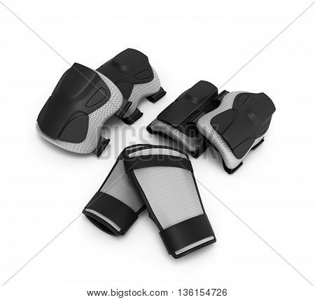 Protective Gear For Multi Sport 3D Render On White Background
