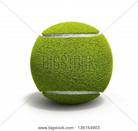 Tennis Ball 3D Render Isolated On White Background Without Shadow