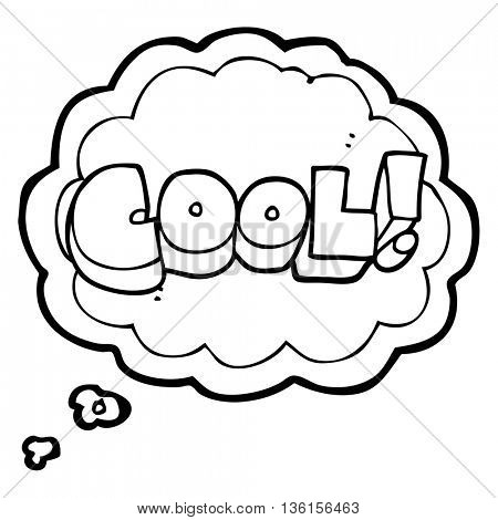cool freehand drawn thought bubble cartoon symbol