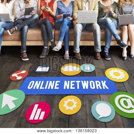 Online Network Connection Social Network Concept