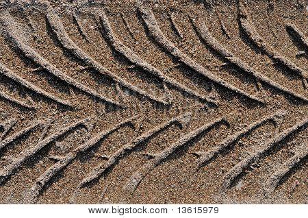 Impressão de veículo na areia