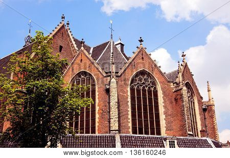 medieval architecture in Amsterdam . holland .