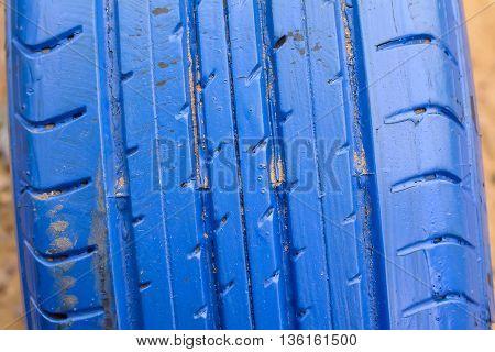 Old Tires Blue