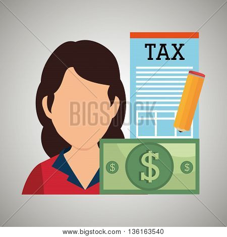 tax debtor design, vector illustration eps10 graphic