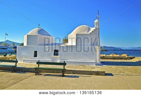 Chapel Saint Nicholas the Thalassinos Aegina island Greece - the protector of sailors