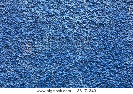 close-up plaster drywall exterior blue finish texture