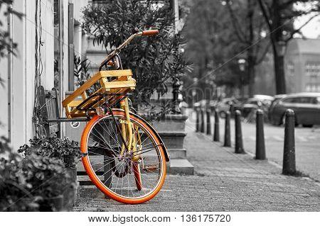 Vintage Bike in Amsterdam Black and White.