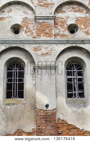 Burned XVII century church of St. Michael the Archangel in Stara Sil - Western Ukraine