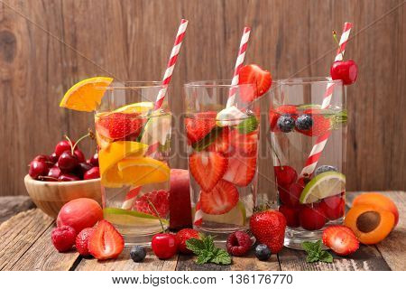 water fruit infused