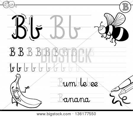 Learn To Write Letter B
