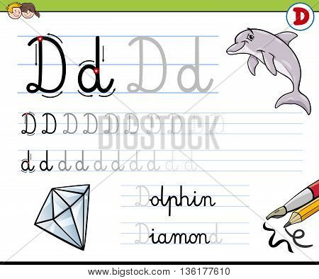 How To Write Letter D