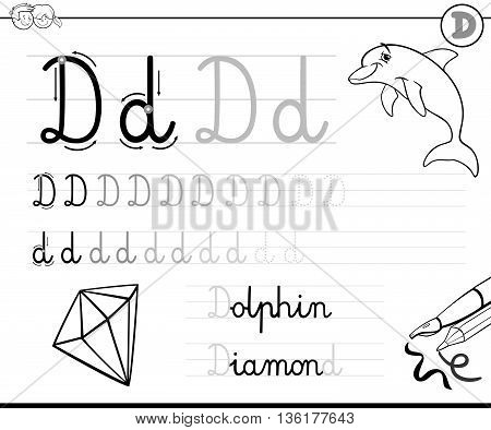 Learn To Write Letter D