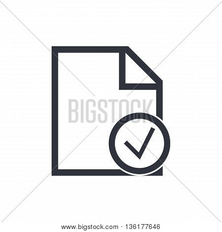 File Accept Icon In Vector Format. Premium Quality File Accept Symbol. Web Graphic File Accept Sign On White Background. poster