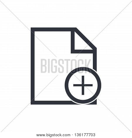 File Add Icon In Vector Format. Premium Quality File Add Symbol. Web Graphic File Add Sign On White