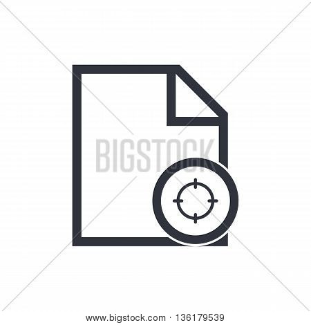 File Goal Icon In Vector Format. Premium Quality File Goal Symbol. Web Graphic File Goal Sign On Whi