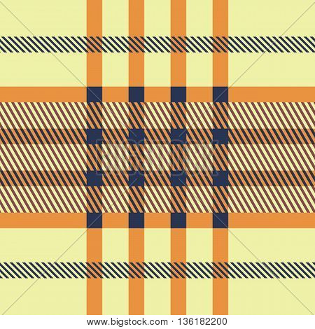 Set Seamless British Tartan Pattern. Plaid Brown, Red And Yellow Palette Tartan Pattern. Repeated Tw