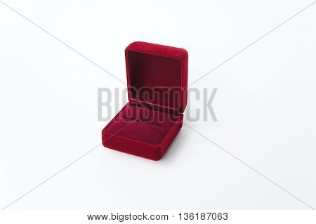 Red Ring Box ,Jewelry Box, Velvet box