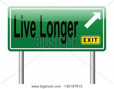 live longer life sign road sign billboard