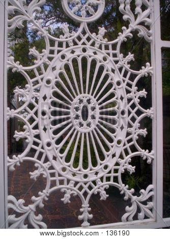 White Wrought Iron Gate