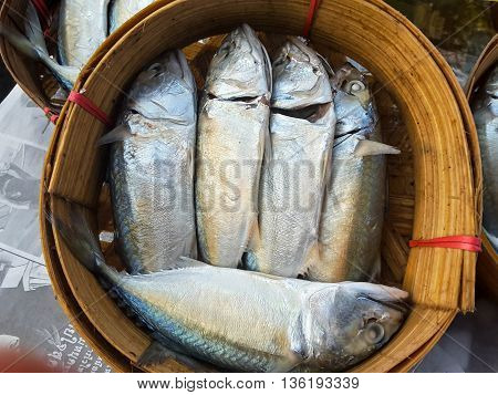 Raw fresh fish in market seafood Thailand