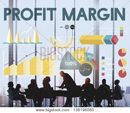 Profit Margin Percentage Business Chart Concept