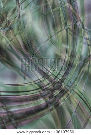 Monotone background in greenish shades of intersecting stripes and waves