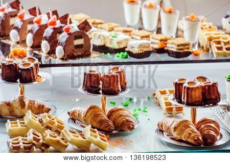 pastries on the brunch table