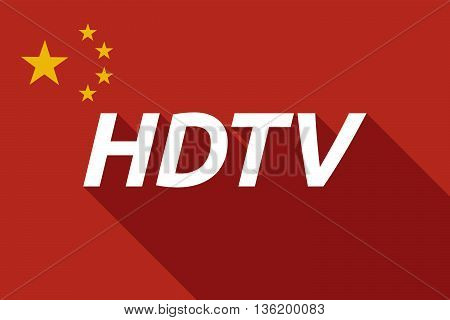 Long Shadow China Flag With    The Text Hdtv