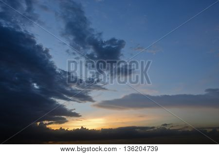 Sky background during sunset sunrise time with clouds