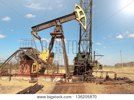 a repair oil pump. A Close up