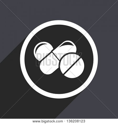 Flat design gray web medicine vector icon
