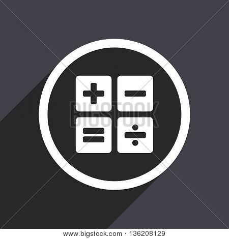 Flat design gray web calculator vector icon