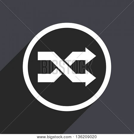 Flat design gray web aleatory vector icon