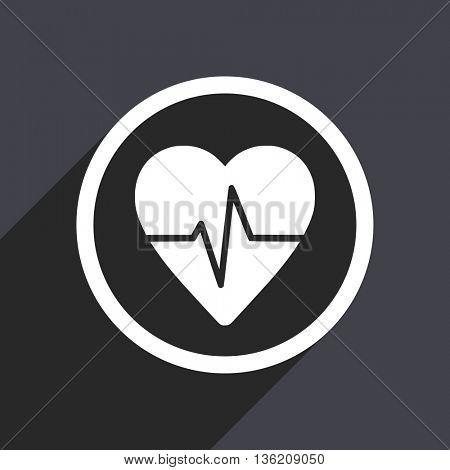 Flat design gray web pulse vector icon