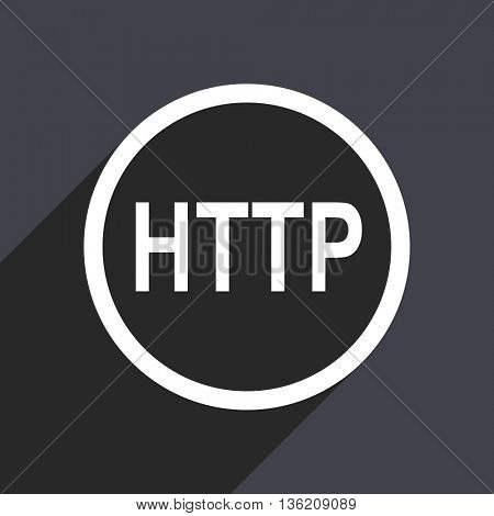 Flat design gray web http vector icon