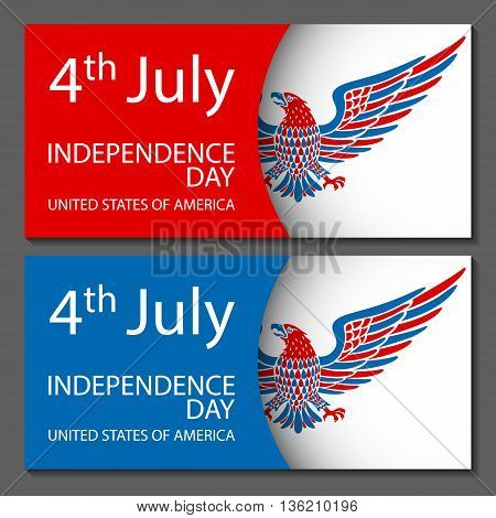 4Th Of July Design Objects, Element. Vector Set No. 1. Isolated On White.