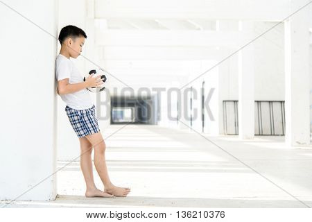 Boy Carry Football