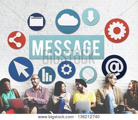 Message Communication Conversation Connection Concept