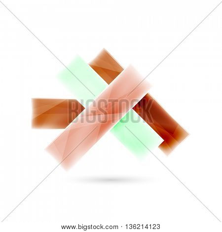 Blank colorful stripes. Business geometric style infographics background. Vector illustration
