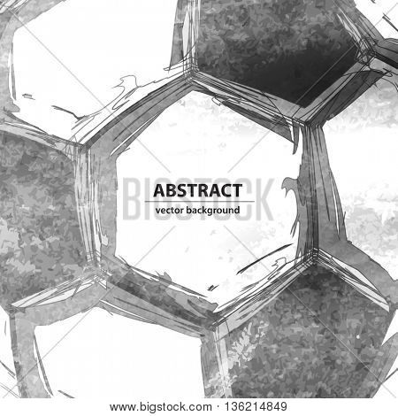 Football soccer ball abstract background easy editable