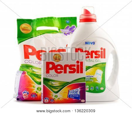 Persil Laundry Detergent Products Isolated On White