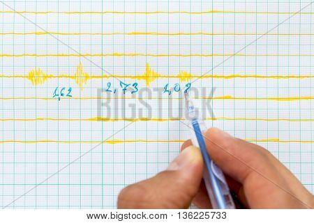Seismological Device Sheet - Seismometer, Pen