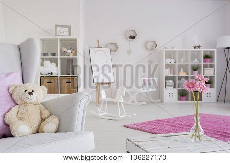 Fluffy Inhabitant Of A Newborn's Cozy Room