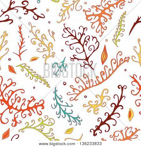 stock vector seamle abstract leaf pattern. summer design elements for template